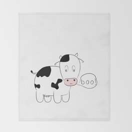 SOLD! Scary Cow - Inspired by a True Incident! Throw Blanket