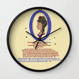 Grandma's Recipe for Sauerkraut Wall Clock