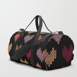 Colorful Knitted Hearts VII Duffle Bag