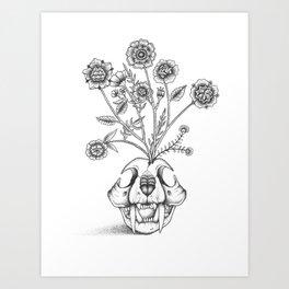 Skull Bouquet Art Print