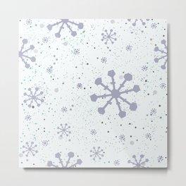 Seamless Winter Snowy Background Metal Print