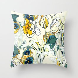 vintage floral pattern 3 Throw Pillow