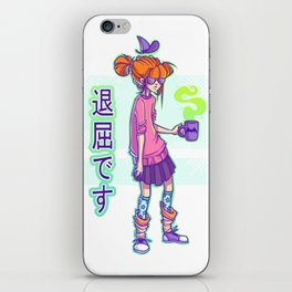 Bored witch iPhone Skin