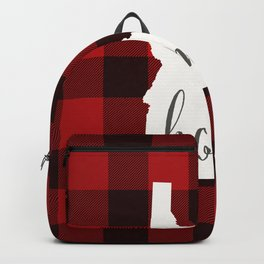 Idaho is Home - Buffalo Check Plaid Backpack