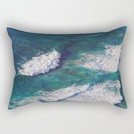 Waves Crashing Rectangular Pillow