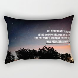 All night long, I search for YOU. Rectangular Pillow