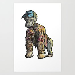Hipster to death. Art Print