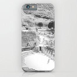 Travel Escape | Arena Ruins Ephesus Black and White Stadium European Mountain Wilderness Landscape iPhone Case