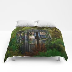 Abandoned Tardis doctor who in deep jungle iPhone 4 4s 5 5s 5c, ipod, ipad, pillow case and tshirt Comforters
