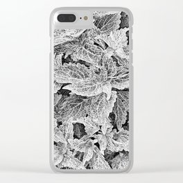 coleus black and white Clear iPhone Case