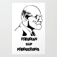 freud Art Prints featuring Freud by Freudian Slip Producions