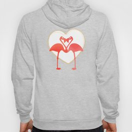 lovebirds - flamingos in love Hoody