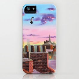 Mary Poppins and Bert iPhone Case