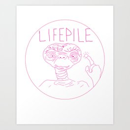 lifepile, but with smaller nostrils Art Print