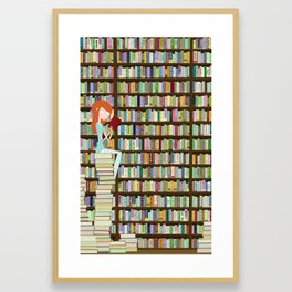When in doubt, go to the library Framed Art Print