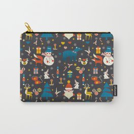Christmas symbols pattern Carry-All Pouch