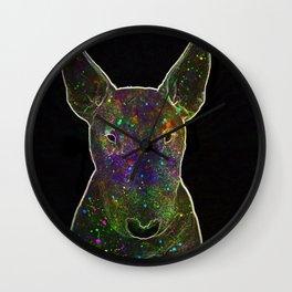 Cosmic bullterrier Wall Clock