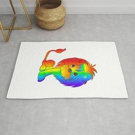 Rainbow Lion Cub 2 Rug
