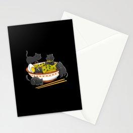 Kawaii Anime Cat Japanese Ramen Noodles Stationery Cards