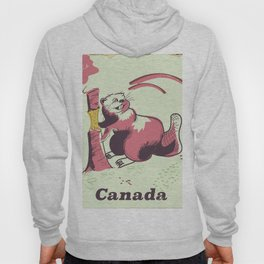 Canada vintage travel poster Hoody