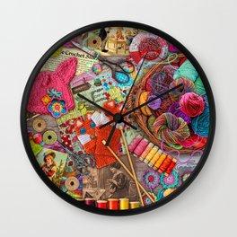 Vintage Yarn & Thread Wall Clock