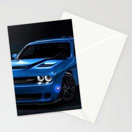 B5 Blue Hellcat Challenger SRT Stationery Cards
