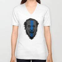 bukowski V-neck T-shirts featuring Bukowski | Bluebird by Gabriel Mihai | SnakeBishop