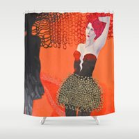 shadow Shower Curtains featuring Shadow by doviArt