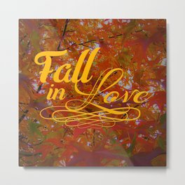 Fall in Love Metal Print