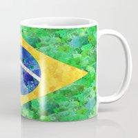 brasil Mugs featuring BRASIL em progresso by Bianca Green