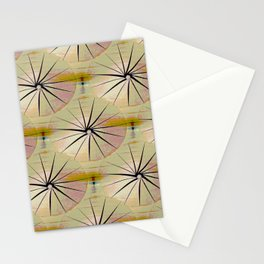 Paper Parasols (pink blush) Stationery Cards