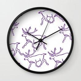 Reindeer Herd Wall Clock