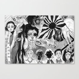 21 eyes Canvas Print