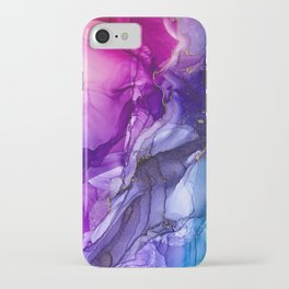 Abstract Vibrant Rainbow Ombre iPhone Case