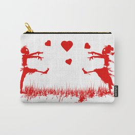Zombies in Love Red Carry-All Pouch