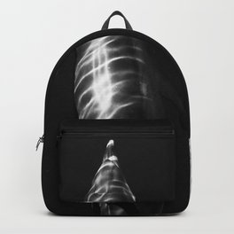 Black and white dolphins Backpack