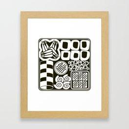 Jubako No2 Monochrome Framed Art Print