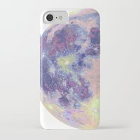 sun and moon iPhone & iPod Cases featuring Moon by Marta Olga Klara