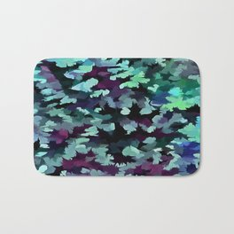 Foliage Abstract Pop Art In Teal, Blue and Green Bath Mat