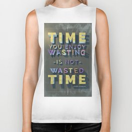 Time Wasted Biker Tank