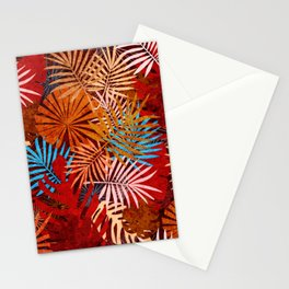 Rusty Grunge Tropical  Stationery Cards