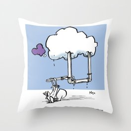Cloud Maintenance Throw Pillow