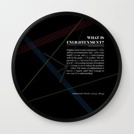 Philosophia I: What is Enlightenment? Wall Clock