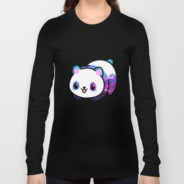 Kawaii Galactic Mighty Panda Long Sleeve T-shirt
