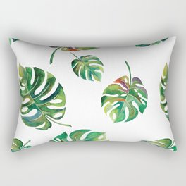 Watercolor Palm Leaves Rectangular Pillow