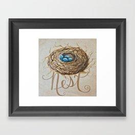 Nest Where You Are Framed Art Print