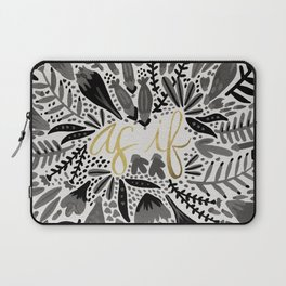 As If – Black & Gold Laptop Sleeve