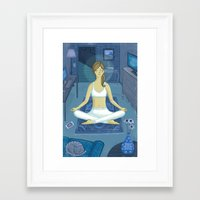 meditation Framed Art Prints featuring Meditation by Anne Was Here