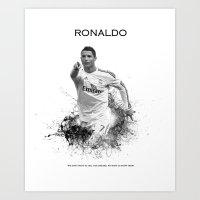 ronaldo Art Prints featuring Ronaldo  by Sjors van den Hout