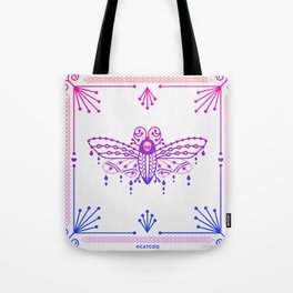 Death's Head Hawkmoth – Pink & Purple Ombré Tote Bag
